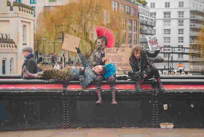 Foto de punks años 70
